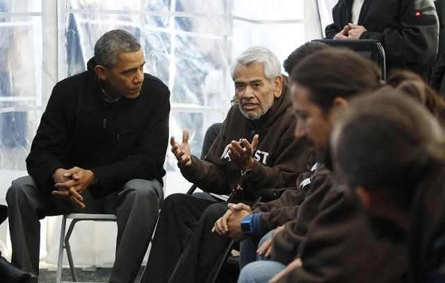 President Barack Obama and hunger striker Eliseo Medina