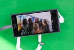 Nokia Lumia 735 Skype and Selfie Pod at the East Side Gallery Berlin - Day 1