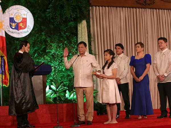 Rodrigo Duterte's Being Sworn Into Office