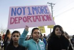 Anti-Deportation Sign at Immigration Rally
